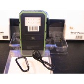 Portable GREEN Solar Power Bank & AC Charger Unit 4000 mAh with 2 USB output and 6 LED Lights