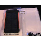 U.S Brand Solar Power Bank & AC Power Charger Unit Orange actual 4000 mAh Guardian model# CT-SP-G4 with 2 LED Light